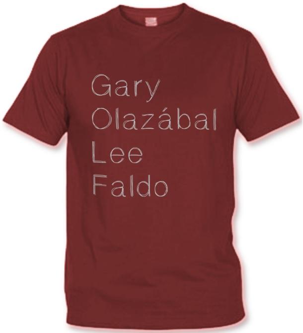 T-shirt Golf Légendes bordeaux