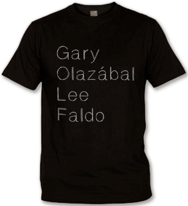 T-shirt Golf Légendes Noir
